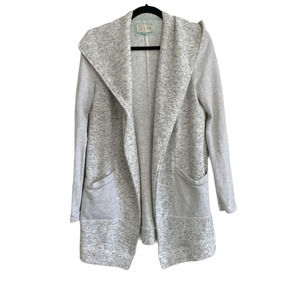 Anthropologie Ansley Gray Relaxed Fit Cardigan